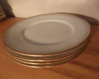 Rorstrand Sweden Aviel Set of 4 Bread Plates