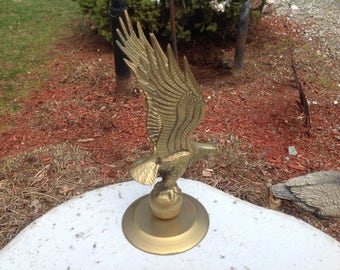 Vintage Solid Brass Flying Eagle Made In Taiwan