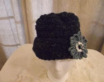 Crochet Hat in Dark Blue
