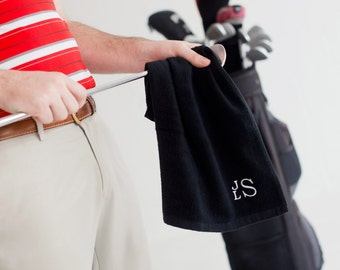 Personalized Golf Towels - Monogrammed Golf Towels - Golf Towels with Clip