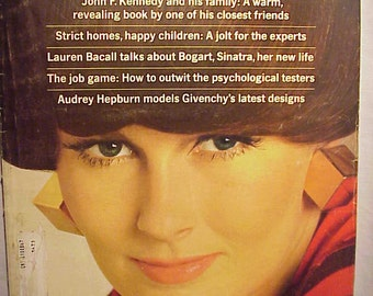 July 1966 McCall's Magazine with Maria Gudy on the cover By Otto Storch , has 136 pages of ads and articles