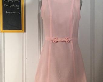 1960's Pink Sleeveless Dress