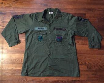 US Air Force Vietnam Era Long Sleeve Utility Shirt