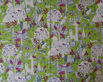 Forest Japanese cotton fabric.
