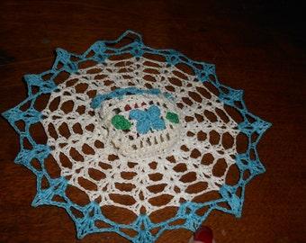 Crochet Wall Decor / Doilie w/ pocket