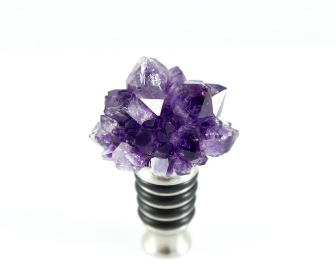 Amethyst Flower Wine Stopper