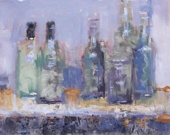 "Original Still Life,l Oil Painting , 12x16 , title - ""Straight"" , by John Kelley"