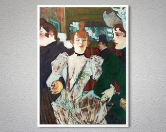 La Goulue by Henri de Toulouse Lautrec -  Poster Paper, Sticker or Canvas Print