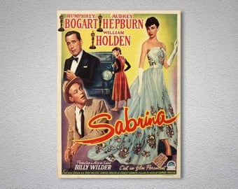 Sabrina Movie Poster - Audrey Hepburn, William Holden, Poster Paper, Sticker or Canvas Print