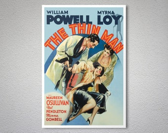 The Thin Man Movie Poster, William Powell - Poster, Sticker or Canvas Print