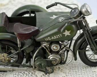 "U.S. Army Side Car Big ""Boy's"" Toy or Collectible (AB)"
