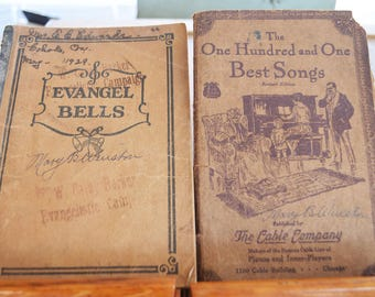 Five Old Song Books, 1920s