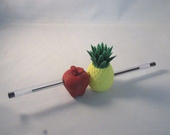 PPAP Pen Pineapple Apple Pen holder 3D Printed