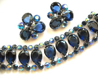 MADELEINE Juliana Vintage Bracelet and Earrings designs used by Delizza & Elster sold in New York City 1950s