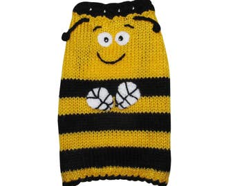 Bee dog sweater dog jumper small dog clothes dog coat small dog sweater teacup dog clothes medium large dog sweater small dog costume outfit