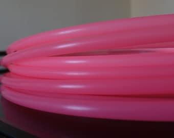 """Custom Polypro Hoop in Glow-in-the-dark Pink 5/8"""" tubing"""