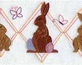 Vintage Easter Trio Embroidered Towel | Flour Sack Towel | Linen Towel | Dish Towel | Kitchen Towel | Hand Towel | Easter Towel