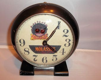 Black Americana Wind Up alarm Clock