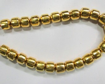 Vintage handmade 22K gold jewelry beads set of 25 pieces rajasthan india