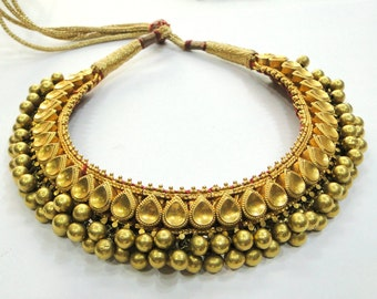 Rare! Vintage antique Solid 22K Gold Jewelry Necklace Tushi