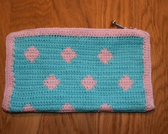 Makup purse - Baby pink and baby blue - Size: 20 * 11,5 cm