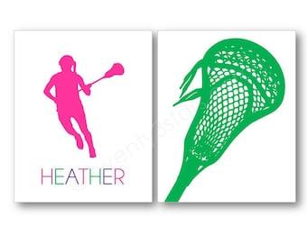 Girl's Lacrosse Art Prints, Lacrosse Name Art, Lacrosse Player Gift, Lacrosse Team Gift, Women's Lacrosse Player Gift, Lacrosse Coach Art