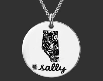 Alberta Necklace | Alberta Jewelry | Canada Necklace | Canada Jewelry | Bridesmaid Gift | Friend Gift | Daughter Gift | Korena Loves