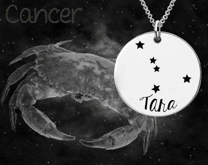Cancer Zodiac Necklace | Cancer Constellation Necklace | Astrology Necklace | Zodiac | Personalized Gifts | Korena Loves