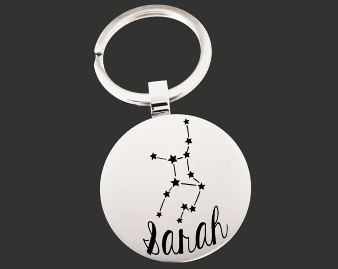 Zodiac Gift | Zodiac Keychain | Zodiac Key chain | Zodiac Sign | Astrology Gift | Personalized Gifts | Korena Loves