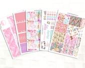 Golden Butterflies Planner Sticker Kit, Vinyl Stickers, Erin Condren Sized
