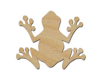 Frog Shape Variety of Sizes Unfinished Wood Craft Cut Outs  Artistic Craft Supply