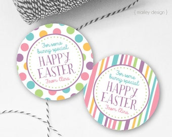 Easter Tags Printable Easter Favor Tags Easter Gift Tags Happy Easter Tags Personalized Customized Easter Printables Digital Easter Tags