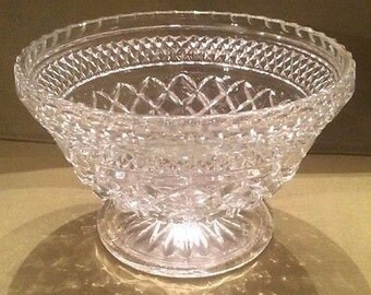 Vintage Wexford Small Footed Diamond Point Fruit Bowl