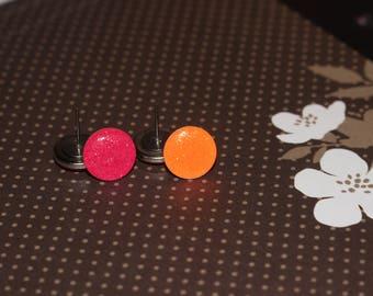 Glitter Stud Earrings, Titanium Earrings, Hypoallergenic Stud Earrings