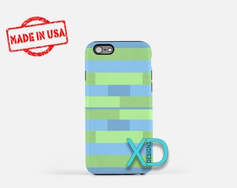Overlapping Stripes iPhone Case, Overlap iPhone Case, iPhone 8 Case, iPhone 6s Case, iPhone 7 Case, Phone Case, iPhone X Case, SE Case