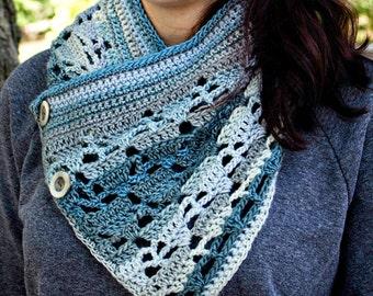 Crochet Pattern Cowl Scarf Wrap, Aspen PDF 16-276