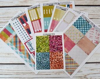 July Vertical Planner Sticker Kit, fits Erin Condren Vertical Life Planner, July Kit, July Stickers, Vertical July Kit