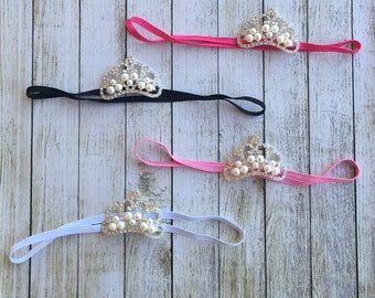 WHITE Baby Crown Headband