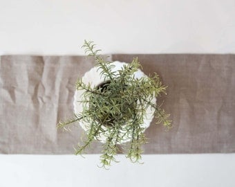 Table runner - gray linen - tablecloth -table decor - 18x72
