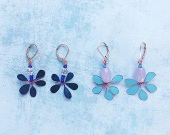 Dangle and Drop Earrings - set earrings - floral earrings - pending earrings