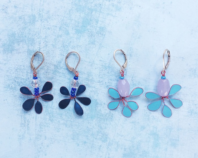 Dangle and Drop Earrings - set earrings - floral earrings - pending earrings