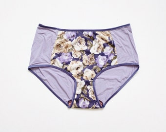 Floral pattern Hipster style Panties. comfortable underwear.