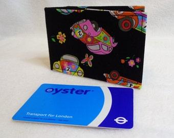 VW Beetle Design Oyster Card Holder - Credit Card Holder - Business Card Holder - Gift Card Purse - Train Ticket Holder - Beetle Gift