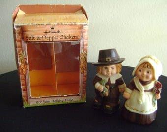 Vintage Pilgrims Salt and Pepper Shakers Hallmark 60's