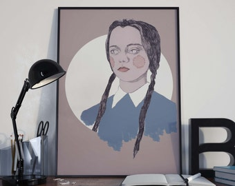 Wednesday Addams Print