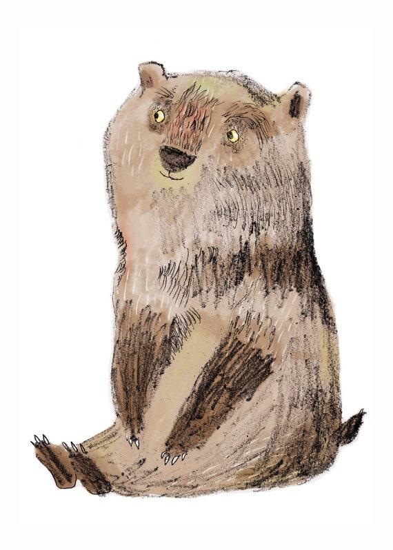 A3 Bear Print