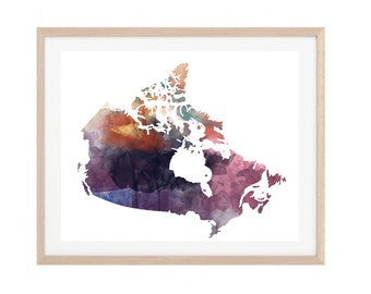 Canada Watercolor Printable| Watercolor | Instant Download | Printable | Minimalist | Abstract |Gallery Wall Print