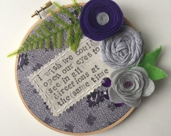 "Embroidery Hoop / Death Cab for Cutie ""Marching Bands of Manhattan"" Lyrics"