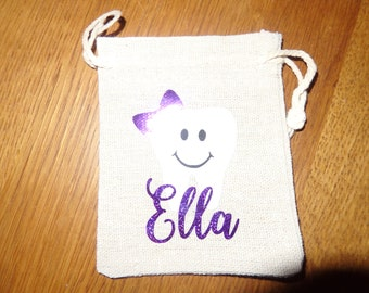 Personalised Childs Tooth Fairy Bag kids gift