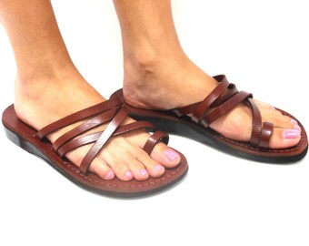 Leather Sandals, Leather Sandals Women, Sandals, Women's Shoes, VENUS, Flip Flops, Biblical Sandals, Jesus Sandals, Sandals